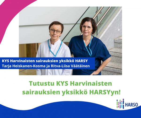 Tapahtumailmoitus KYS Harvinaisten sairauksien yksikkö HARSY